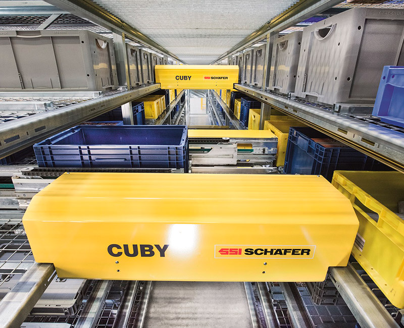 ICP installs Europe's first logistics shuttle system from SSI Schaefer