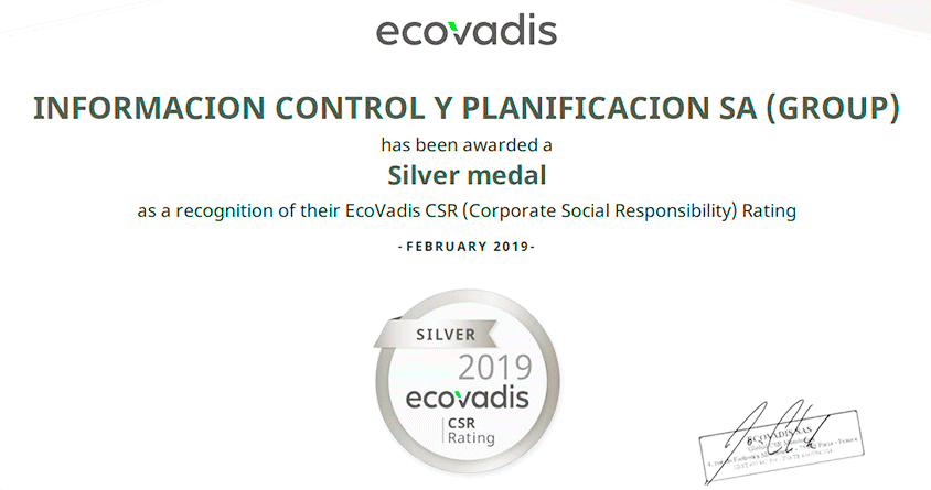 ICP obtains Silver medal recognition from Ecovadis